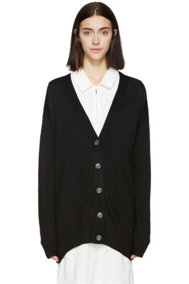 MM6 Maison Margiela - Black Long Knit Cardigan