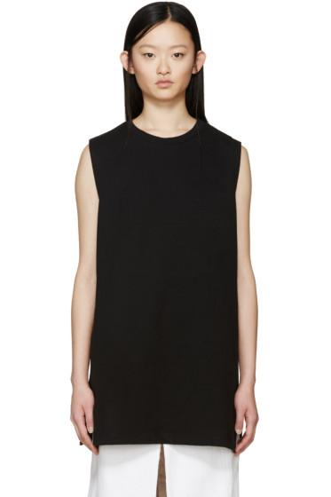 MM6 Maison Margiela - Black Long Sleeveless Sweatshirt
