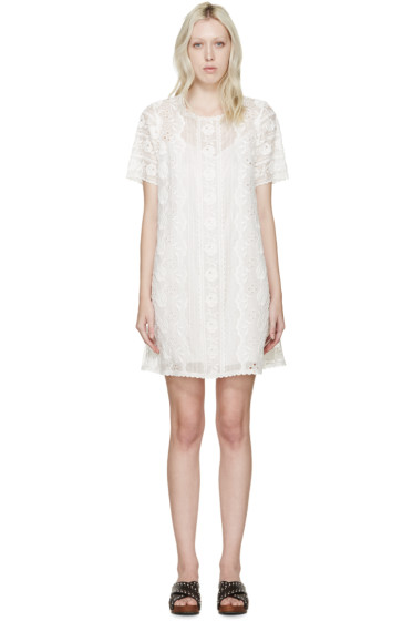 Marc Jacobs - Ivory Lace Voile Dress