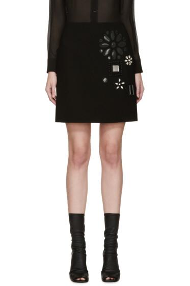 Marc Jacobs - Black Wool Embellished Miniskirt