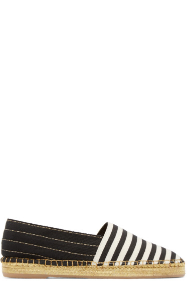 Marc Jacobs - Black & White Striped Espadrilles