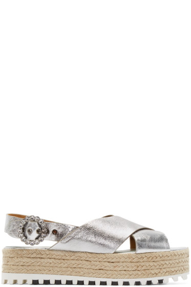 Marc Jacobs - Silver Leather Beverley Sandals