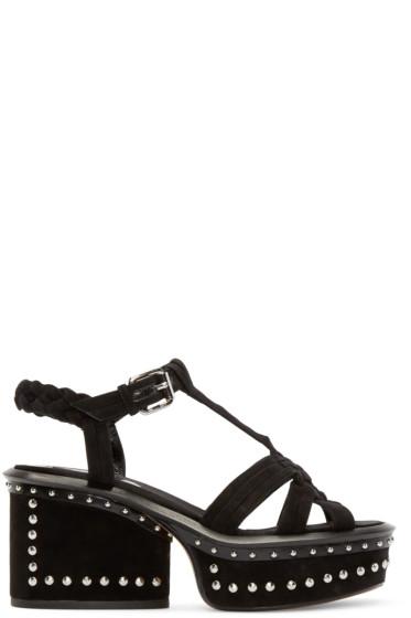 Marc Jacobs - Black Suede Studded Sandals