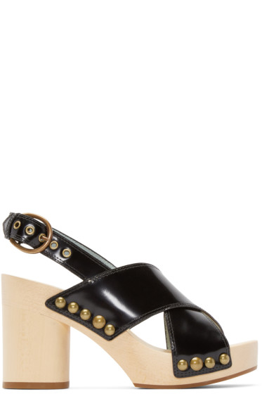 Marc Jacobs - Black Leather Linda Sandals