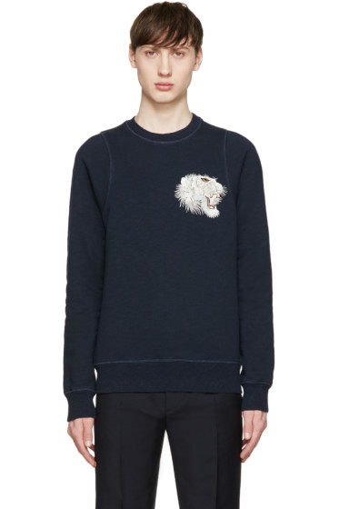 Marc Jacobs - Navy Embroidered Tiger Sweatshirt