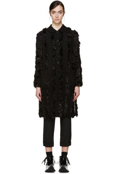 Comme des Garçons - Black Faux-Fur Trim Coat