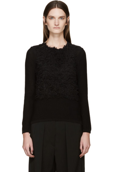 Comme des Garçons - Black Textured Sweater