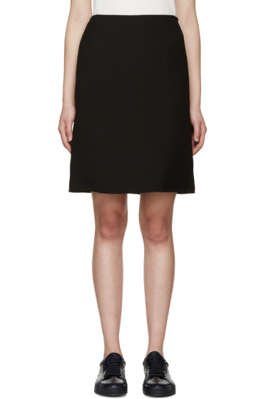 Jil Sander - Black A-Line Skirt