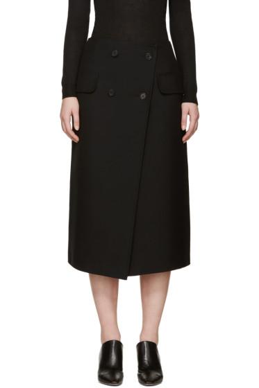 Jil Sander - Black Gabardine Ancora Skirt