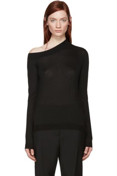 Jil Sander - Black Cashmere Off-The-Shoulder Sweater
