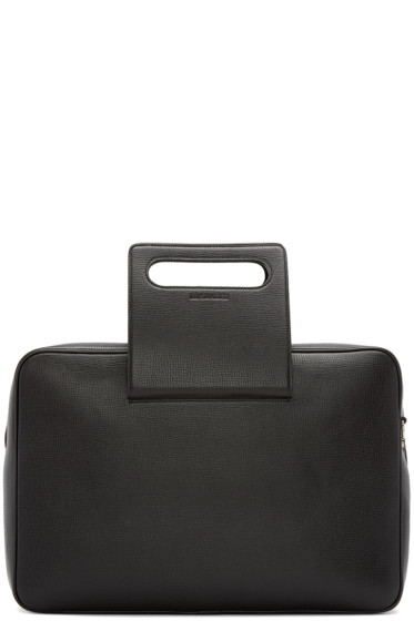 Jil Sander - Black Grained Leather Briefcase