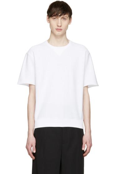 Jil Sander - White Short Sleeve Pullover