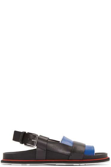 Jil Sander - Black & Blue Leather Sandals