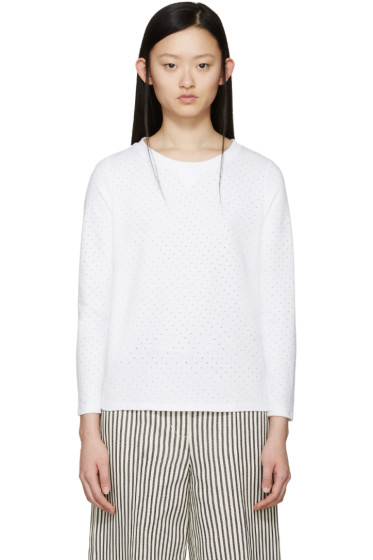 A.P.C. - White Perforated Martina Pullover