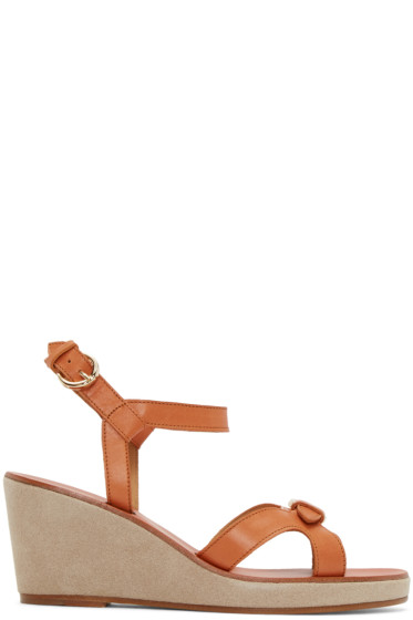 A.P.C. - Tan Leather Patty Sandals