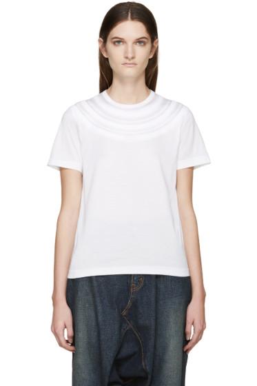 Junya Watanabe - White Circle Neckline T-Shirt