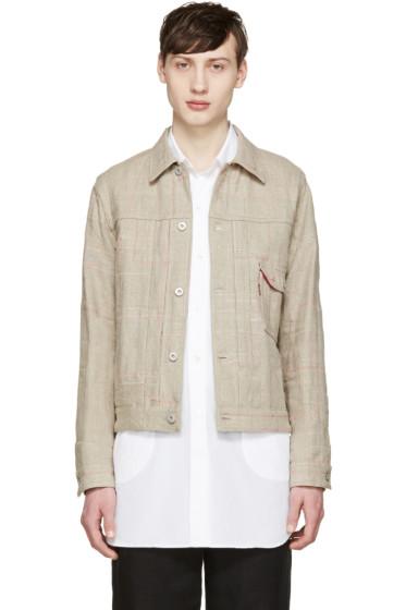 Junya Watanabe - Beige Reversible Canvas Levi's Edition Jacket