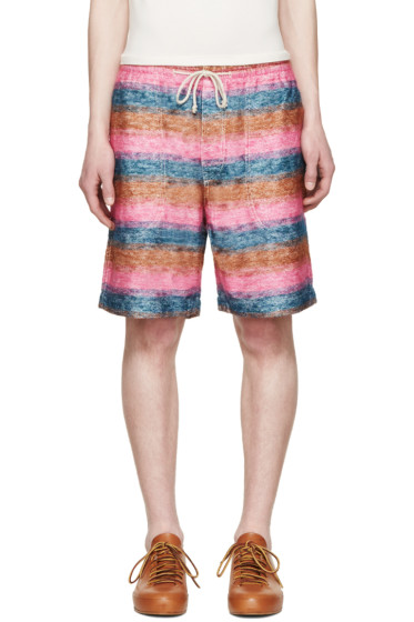 Junya Watanabe - Multicolor Mohair Striped Shorts