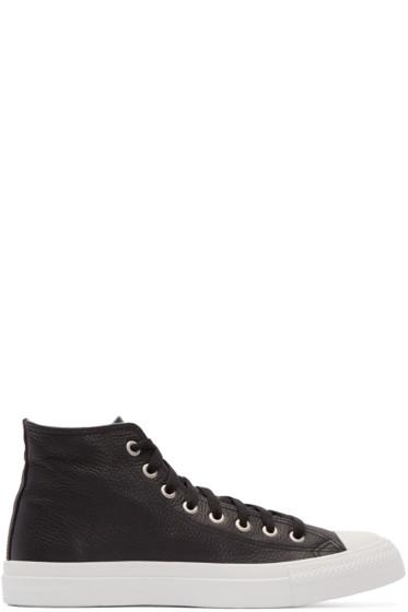 Junya Watanabe - Black Leather High-Top Sneakers