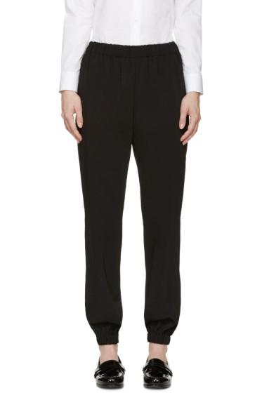 Lanvin - Black Draped Lounge Pants