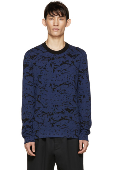 Lanvin - Black & Blue Reversible Sweater