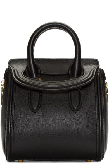 Alexander McQueen - Black Leather Mini Heroine Bag