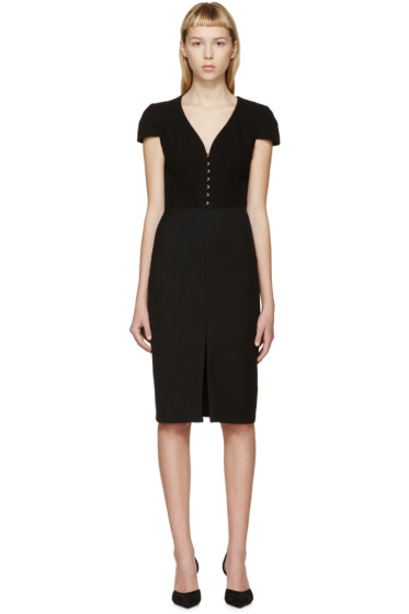 Alexander McQueen - Black Cap Sleeve Dress
