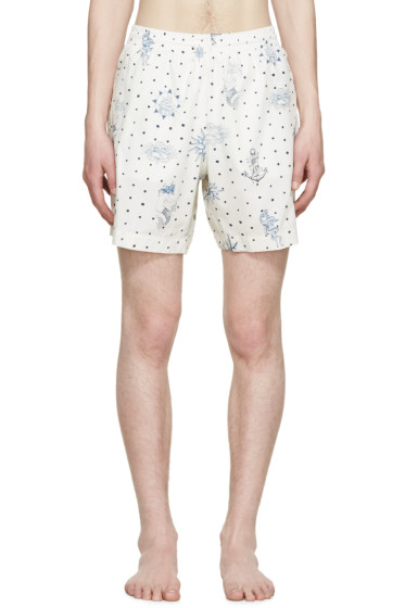 Alexander McQueen - Cream Tattoo Swim Shorts