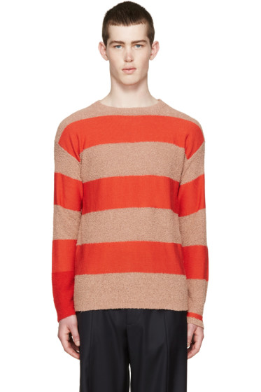 Paul Smith - Red & Pink Striped Sweater