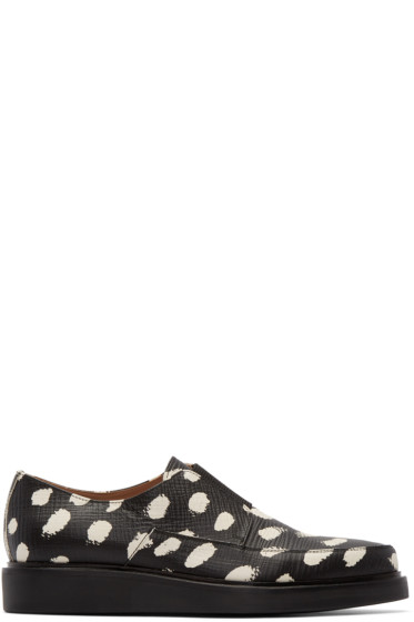 Paul Smith - Black Spotted Leather Loafers