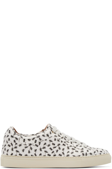 Paul Smith - White Ant Print Low-Top Sneakers