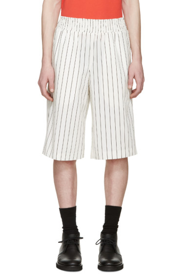 Opening Ceremony - White Pinstriped Boxing Shorts