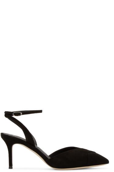 Giuseppe Zanotti - Black Suede Lucrezia Heels