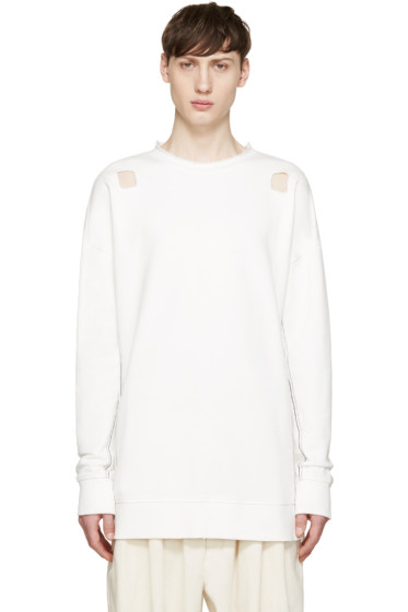 Damir Doma - White Cut-Out Syliam Pullover
