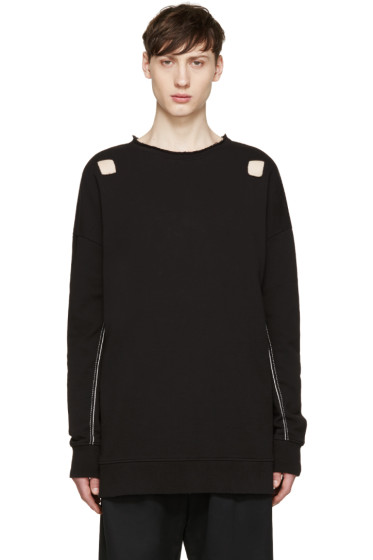 Damir Doma - Black Cut-Out Syliam Pullover