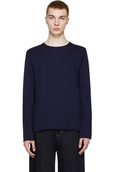 Comme des Garçons Shirt - Navy Fine Knit Sweater