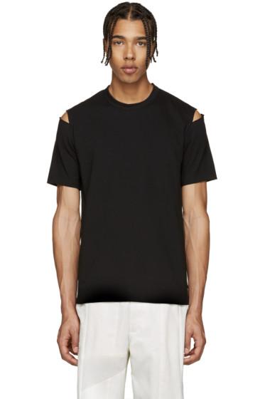 Comme des Garçons Shirt - Black Slits T-Shirt