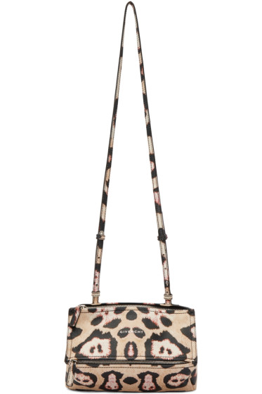 Givenchy - Beige & Pink Jaguar Mini Pandora Bag