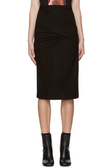 Givenchy - Black Draped Crepe Skirt