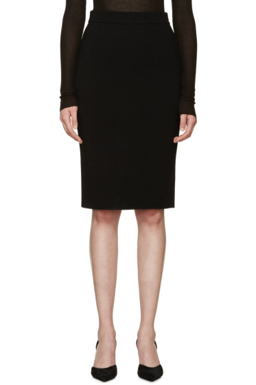 Givenchy - Black Buttoned Pencil Skirt