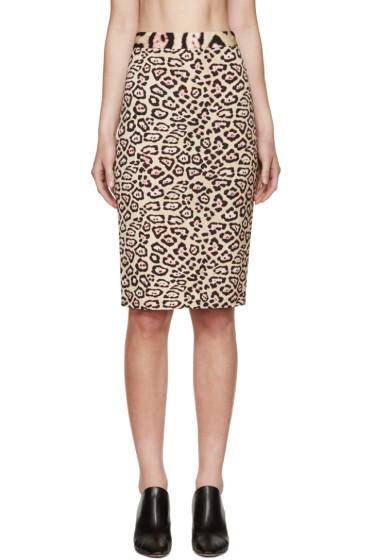 Givenchy - Beige & Pink Jaguar Skirt