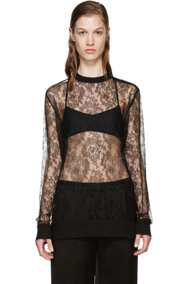 Givenchy - Black Floral Lace Pullover