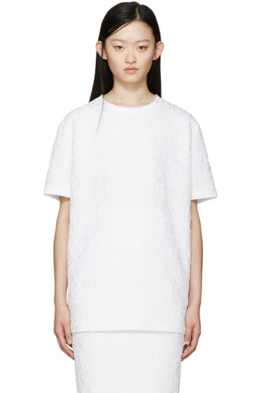 Givenchy - White Floral Jacquard Blouse