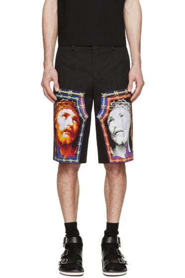 Givenchy - Black Jesus Graphic Shorts