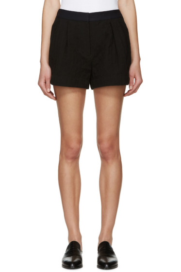 3.1 Phillip Lim - Black Quilted Utility Shorts