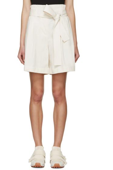 3.1 Phillip Lim - Cream Belted Paperbag Shorts