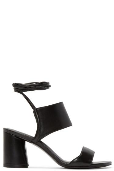 3.1 Phillip Lim - Black Lace-Up Drum Sandals