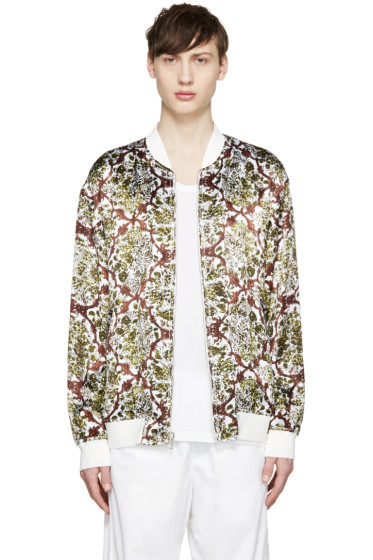3.1 Phillip Lim - White & Green Reversible Bomber Jacket