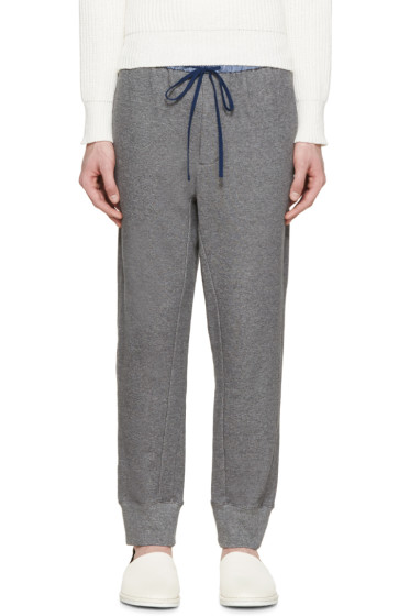 3.1 Phillip Lim - Grey Contrast Waistband Lounge Pants