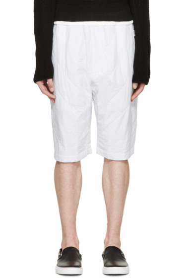 3.1 Phillip Lim - White Quilted Pinstriped Shorts